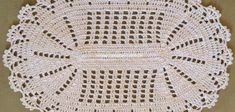 Tapete oval em crochê com aplicação de flores – Passo a passo (1ª Parte)