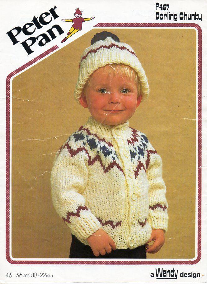 112b9bd5a931 Vintage baby fair isle cardigan hat knitting pattern pdf fair isle ...