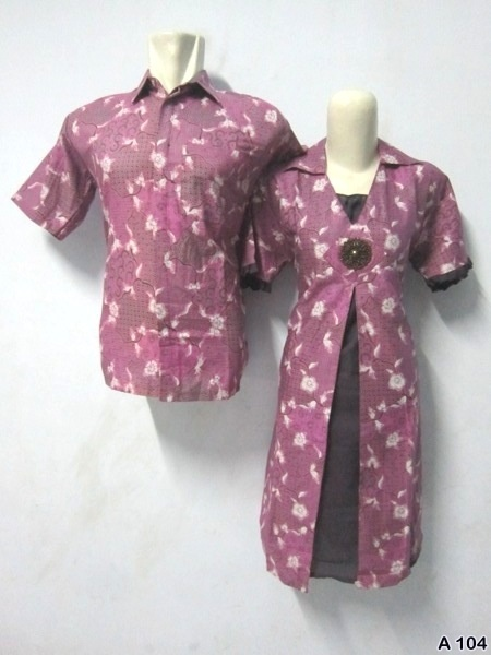 Batik Dress Couple A104 | IDR 135.000 | bahan : Katun | Size M, L, XL | Order : 081333303545