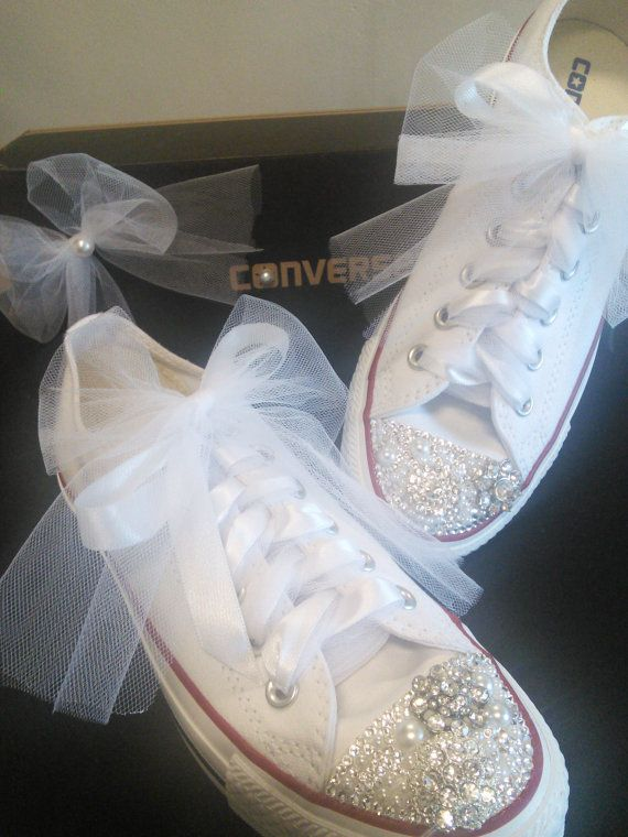 wedding sneakers wedding converse bridal shoes bridal sneakers wedding flats bling shoes custom sneakers strass bling converse