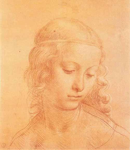 Head of a Young Girl, Leonardo da Vinci.