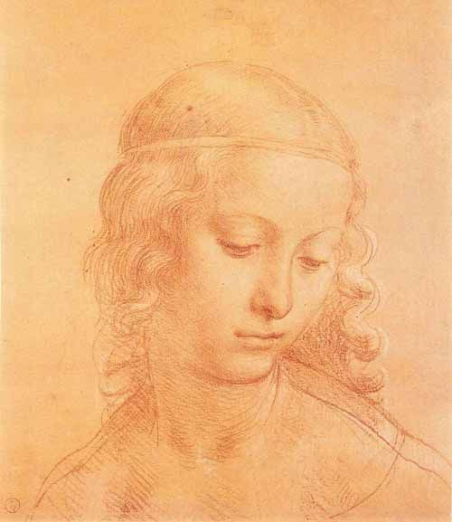 Head of a Young Girl, Leonardo da Vinci.