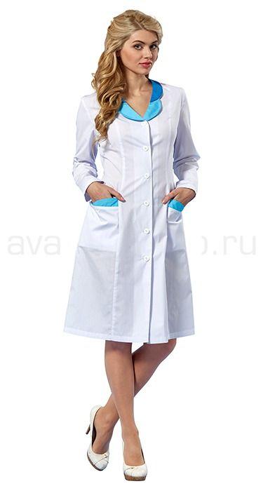 """Халат женский L1102 Lantana / Халаты / Женская одежда """"Lantana"""" / Медицинская одежда"""