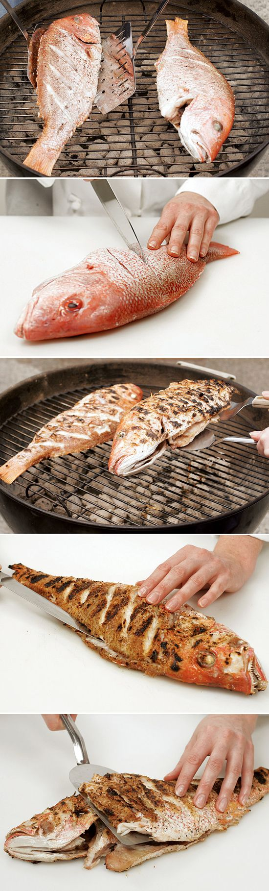 Put an impressive twist on your next outdoor party with grilled whole fish — the dish couldn't be easier to prepare and cook, and its simple presentation is a crowd-stunner. Our recipe and technique works for all types of whole fish, including snapper, bass, trout, mackerel, pompano, and bluefish. Method via @TestKitchen
