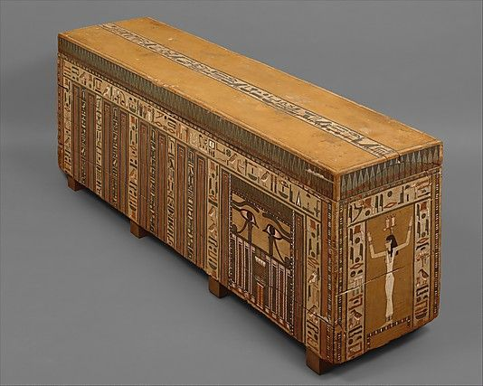 Coffin of Nakhtkhnum, Dynasty XIII, ca. 1802–1640 B.C. From Egypt, Middle Egypt, Meir (Mir), Khashaba excavations