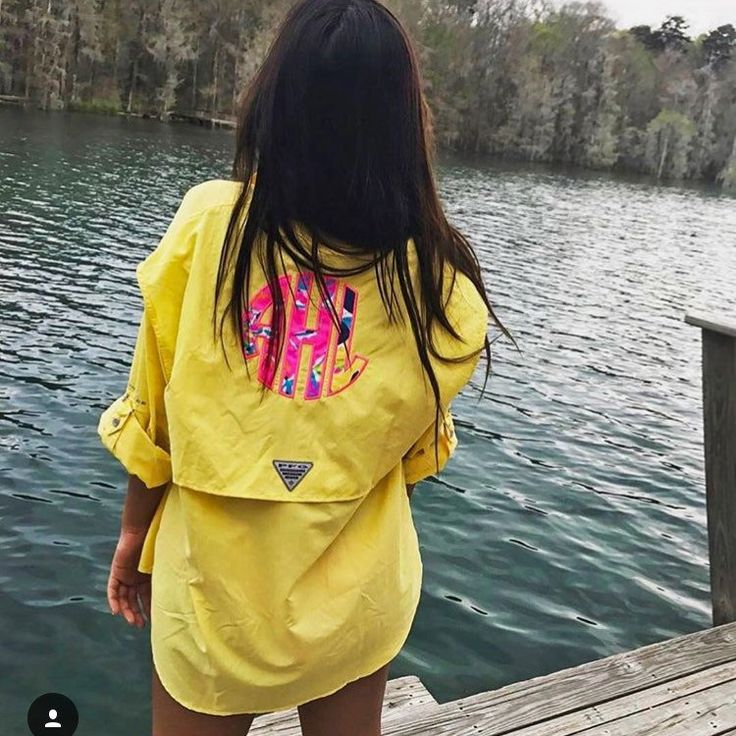 Girls just wanna have  And one of our Lilly Pulitzer Monogrammed Columbia Fishing Shirts!