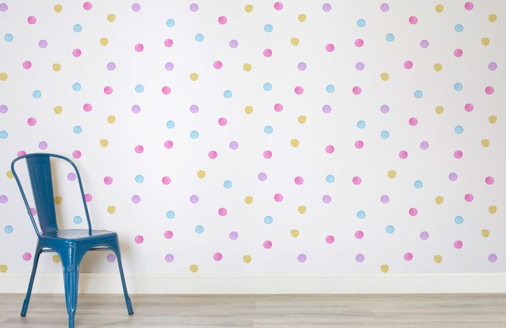 watercolour-polka-dot-room