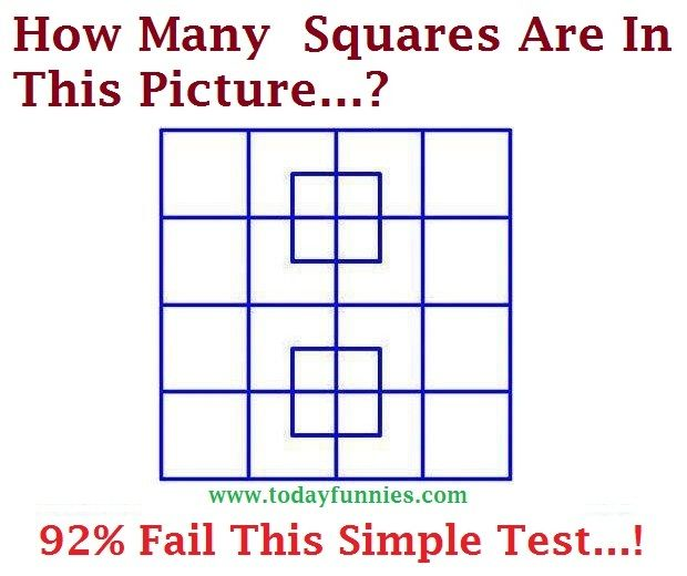 This Is Very Interesting Picture Of A Math Puzzle. In This Funny Picture A Square Is Given With Little Boxes And A Puzzle Is Asked About That…How Many Squares Are You Find In This Picture…? The Answer For The Above Puzzle Is Given In The Below Picture.