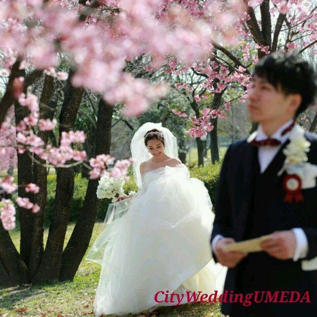 イタズラな笑顔でご新婦様が登場です♪ #桜Wedding #ファーストミート #前撮り CityWeddingUMEDAでは、全国ブライダルヘアメイク出張を承っております。 ブーケや髪飾り、花冠オーダーも承っております。 お問い合わせはプロフィールからホームページを見て頂き、コンタクトからメールお願い致します。 お電話でも承っております。 06-6940-7304 CityWeddingUMEDA 森田遼子 #CityWeddingUMEDA #梅田 #堂島 #ブライダルヘアメイク #振り袖 #結婚準備 #make #色打ち掛け #結婚式 #Wedding #treat #プレ花嫁 #Weddingtbt #ヘアアレンジ #髪型 #へアセット #ルーズアップ #アップ #ヘアメイク #トリートドレッシング #ヴェラウォン #VERAWANG#ジェニーパッカム #花冠 #ブーケ #生花 #大阪
