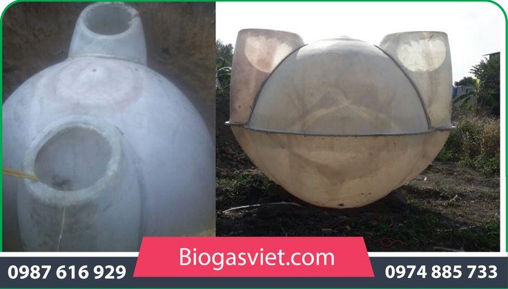 hầm biogas composite giá rẻ cải tiến