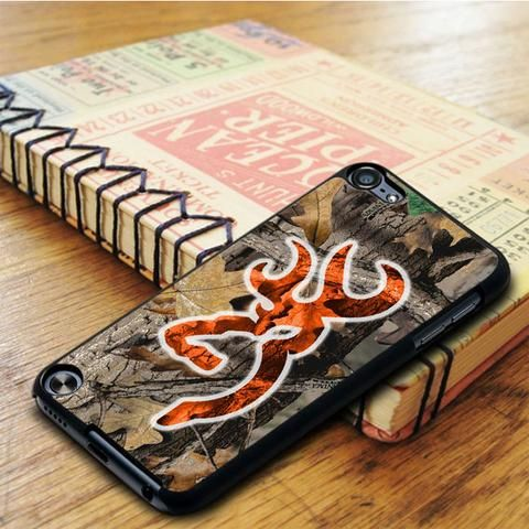 Orange Browning Deer Real Tree iPod 5 Touch Case