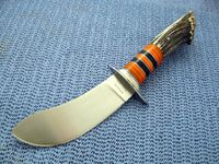 Custom made hunting knives for sale #2 Crown Stag Buffalo Skinner
