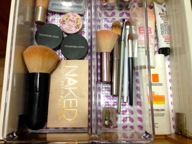 Organized Makeup Drawer #beauty