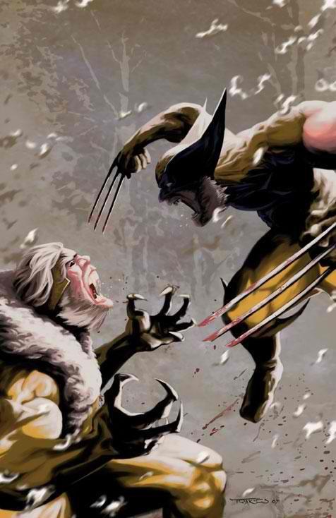 Wolverine vs Sabretooth by Paul Trakies