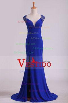 2016 vestidos de baile de la envoltura de las correas Spandex con apliques…