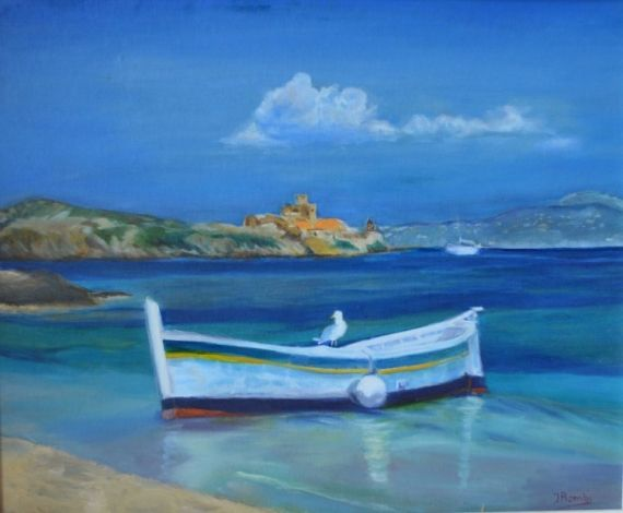 pin tableau peinture mer - photo #37