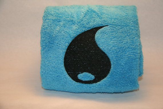 Pokemon Trading Card Game Inspired Hand Towel - Water Energy // by InspiredByNerd on Etsy