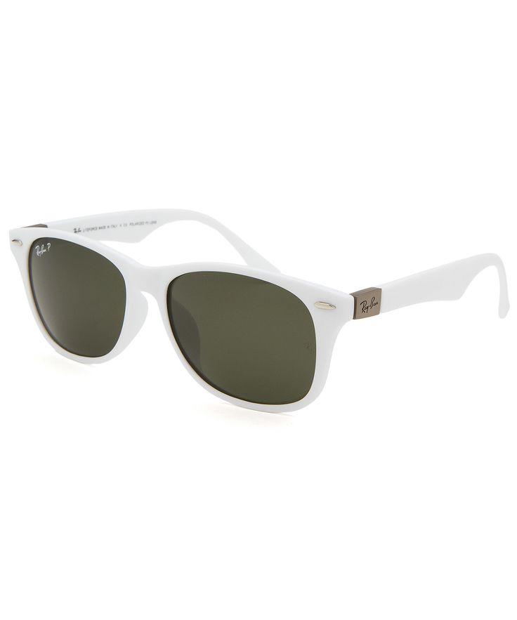 Ray-Ban New Wayfarer Liteforce White Sunglasses | BLUEFLY up to 70% off designer brands