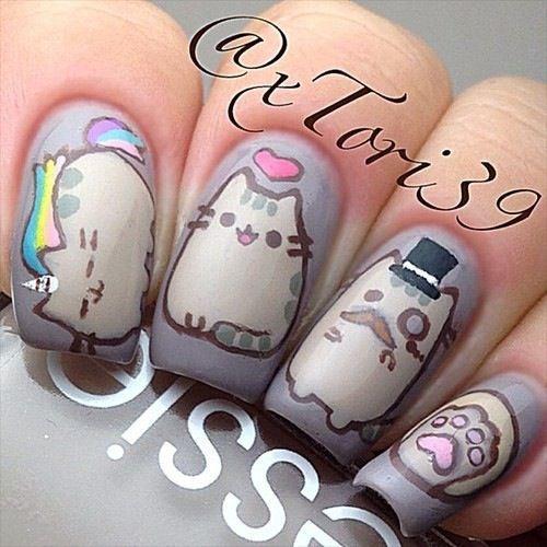 Uñas largas animal print - Animla print long nails