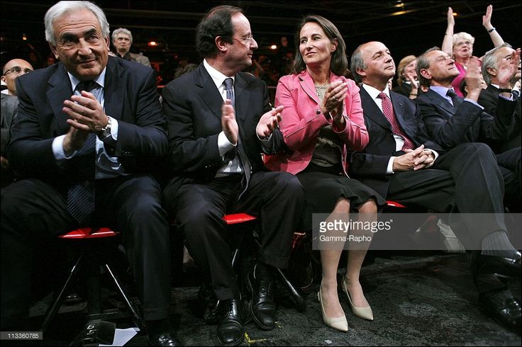 Meeting Of Socialist Party At Zenith For Legislative Campaign With Segolene Royal, Francois Hollande, Dominique Strauss-Kahn And Laurent Fabius In Paris, France On May 29, 2007 - Dominique Strauss-Kahn, Francois Hollande, Segolene Royal, Laurent Fabius.