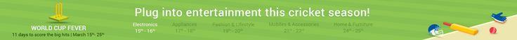 Flipkart t20 World Cup Electronics Sale Offer : Flipkart 15-16 March Electronics Sale
