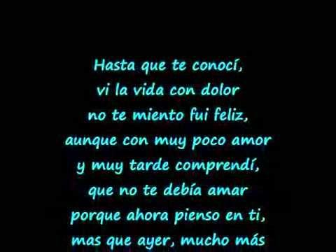 Juan Gabriel Hasta que te conoci (letra)