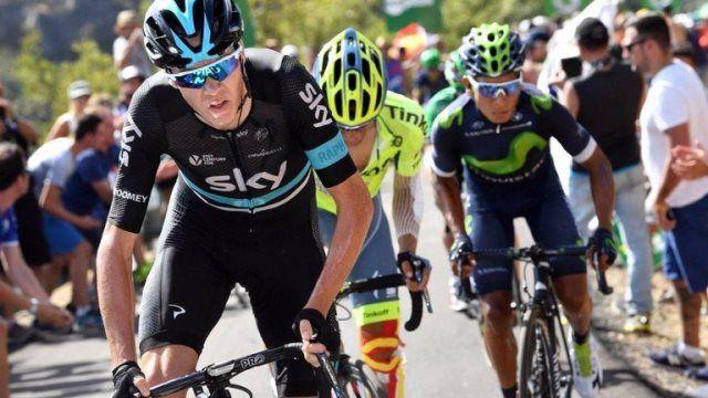 Альберто Контадор и Крис Фрум о 8-м этапе Вуэльты Испании-2016 http://velolive.com/velo_race/vuelta/12897-alberto-contador-i-chris-froome-o-8-m-etape-vuelta-a-espana-2016.html  Альберто Контадор (Tinkoff) и Крис Фрум (Sky) начали прохождение финального и единственного подъёма 8-го этапа Вуэльты Испании-2016 Альто де ла Камперона в группе лидеров, в то время как впереди них отрыва боролся за победу на этапе.