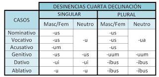 Resultado de imagen de 4o declinacion latin