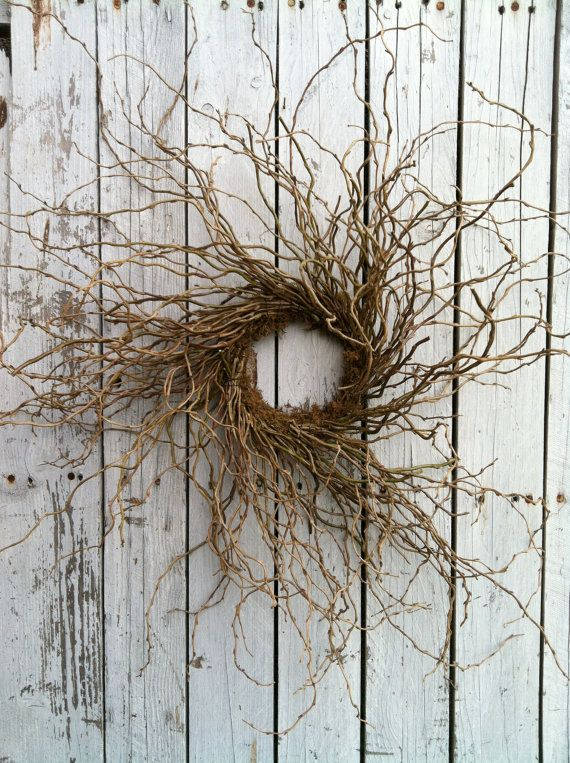 Best 25 willow wreath ideas on pinterest wreath making for A decoration that is twisted intertwined or curled