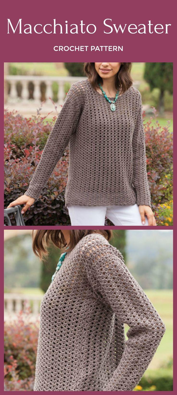 Easy TopDown Macchiato Sweater Crochet Pattern Easy