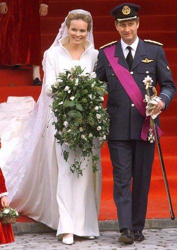 Le prince Philippe de Belgique et Mathilde d'Udekem d'Acoz ©Sipa