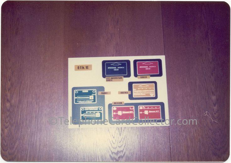 Landis & Gyr - Sodeco Phonocards - BTK 10 - France, Austria, Belguim, Sodeco and Cité Universitaire of Geneva.