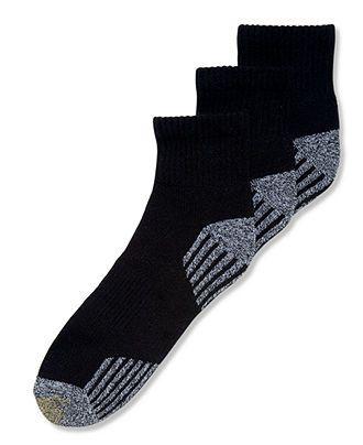 Gold Toe Socks, 3-Pack G Tech Sport Outlast Quarter Socks - Socks - Men - Macy's