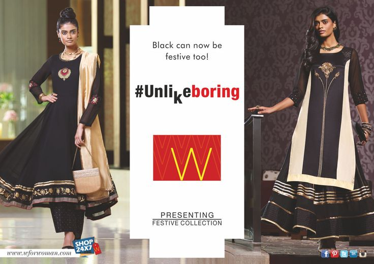 You go back to black. Always. #Unlikeboring #WForWoman #Festive #Fashion #TheColourBlack