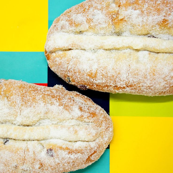 Take a bland subject, like this German stollen, and place it on a vibrant backdrop to make the image pop! Alexis Paquette Photography