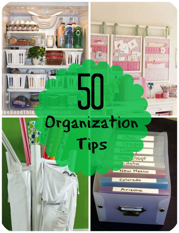 50-organization-tips ~~ Discover tips on how to organize your bathroom, kitchen and even your jewelry!