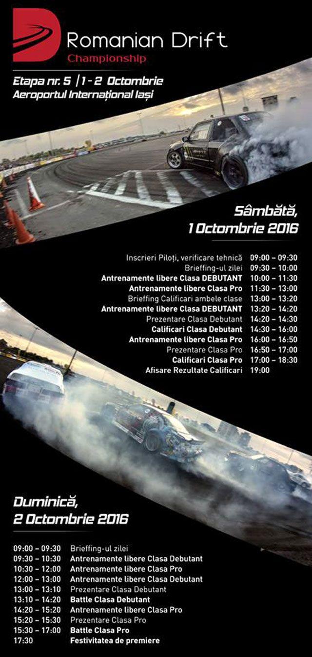 Finalul Campionatului National de Drift 2016 are loc la Iasi. PROGRAM | IasiFun - site-ul tau de timp liber!