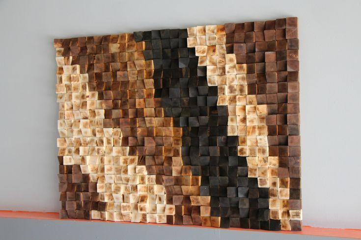Murale en bois rustique Art, bois de chauffage au bois de récupération wall Art, mosaïque de bois, art géométrique, art mural bois, art bois abstraite du sculpture murale en bois Art mural en bois, fait sur mesure 3D triangles Art mural en bois, mur moderne abstrait sculpture murale, peinte à la main, coupe, teint et poncé. La photo est unique et jamais aura une copie identique. Largeur: 30 pouces Hauteur: 40 pouces Épaisseur: 2-4 pouces Poids: environ 11-12 kg *** Pour les clients lo...