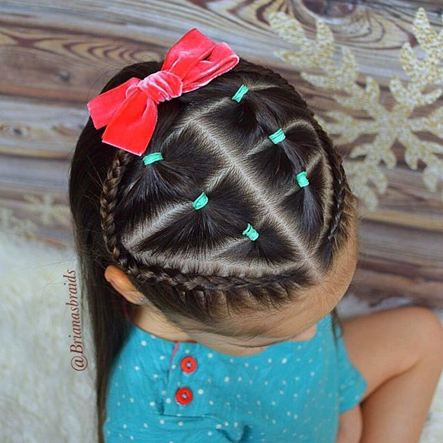 jazz up the little one's ponytail with bows and bands