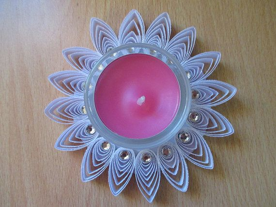 Hand Made Tea Light Holder With Scented Candle/Table Decoration/Baby Shower/Wedding/Gift