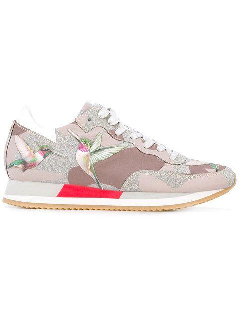 Shop Philippe Model bird print sneakers.