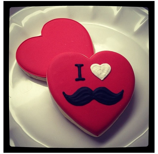 Galletas de bigote - I Love #Mustache #Decorated #Cookies by Baked Perfection Cookies   http://www.facebook.com/bakedperfectioncookies