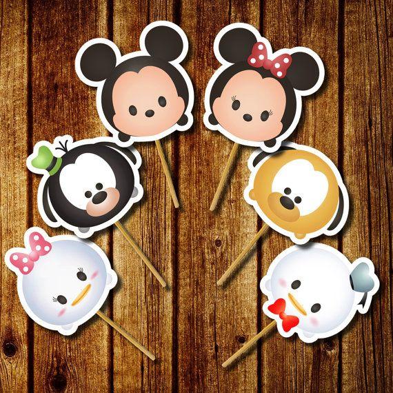 12 Tsum tsum toppers de Cupcake decoración por FancymyCupcakeTopper