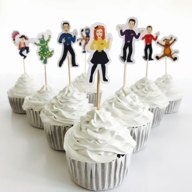 12x The Wiggles Cupcake Topper *HANDMADE* Party Supplies Lolly Loot Bags Deco #TicTacTop #AllOccasions
