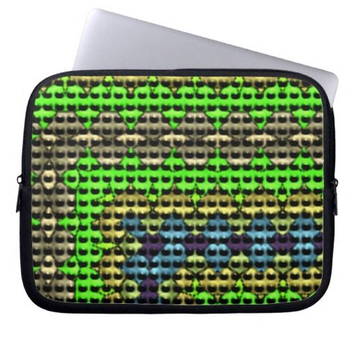 Small dots on abstract pattern laptop computer sleeves
