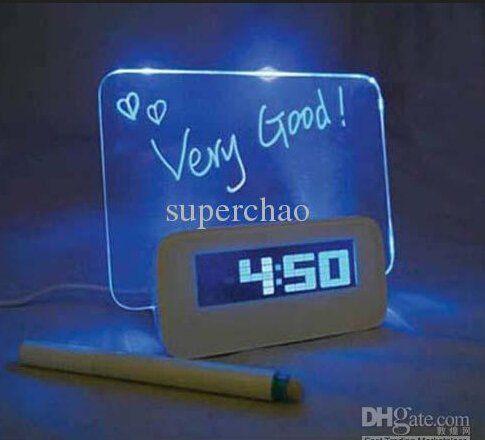 Yosoo(TM)掲示板クロッククリエイティブなファッション大画面ロマンチックな蛍光LED電子時計