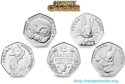 The Beatrix Potter 50p coins are the clear favourites among Change Checkers! #ChangeChecker