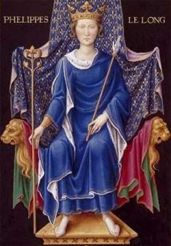 6 janvier 1317 : sacre de Philippe V, roi de France, fils de Philippe le Bel et successeur de Jean Ier le Posthume