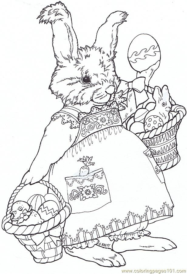 free printable coloring image Juney Bunny