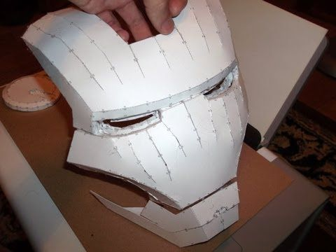 ▶ IRON MAN HELMET BUILD PART 1 ~ CUTTING & ASSEMBLING - by BoochieBoy814 on YouTube - LOVE his Iron Man series. Shows how to assemble, Bondo, etc.